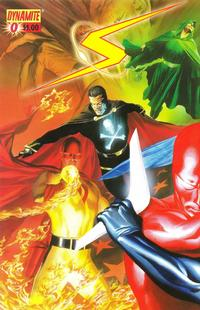 Cover Thumbnail for Project Superpowers (Dynamite Entertainment, 2008 series) #0 [Alex Ross Connecting Cover - Left Side]