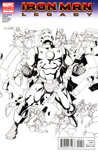 Cover Thumbnail for Iron Man: Legacy (Marvel, 2010 series) #1 [Second Printing]