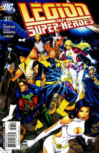 Cover Thumbnail for Supergirl and the Legion of Super-Heroes (DC, 2006 series) #37 [right-side variant]
