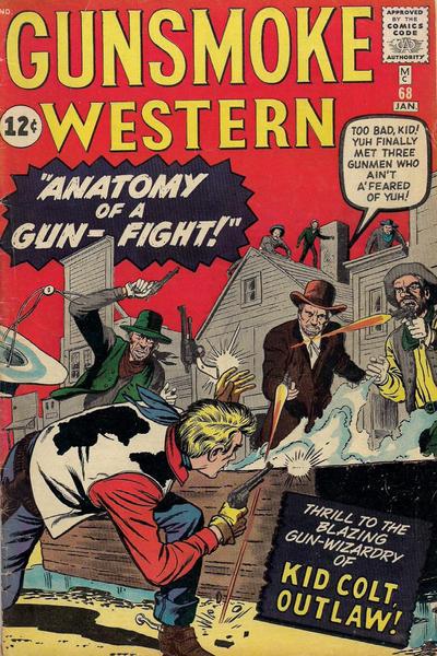 Cover for Gunsmoke Western (Marvel, 1955 series) #68 [Black circle price variant]
