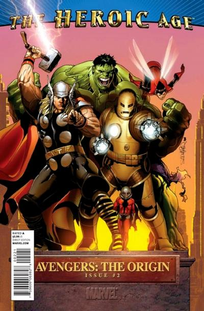 Cover for Avengers: The Origin (Marvel, 2010 series) #2 [Heroic Age Variant]