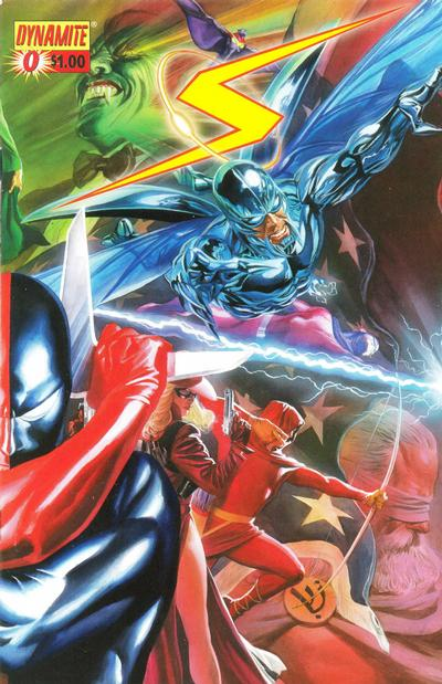 Cover for Project Superpowers (Dynamite Entertainment, 2008 series) #0 [Alex Ross Connecting Cover - Left Side]