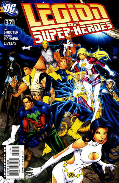 Cover for Supergirl and the Legion of Super-Heroes (DC, 2006 series) #37 [right-side variant]