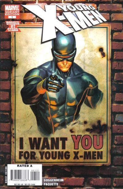 Cover for Young X-Men (Marvel, 2008 series) #1 [Marvel Digital Comics Variant]