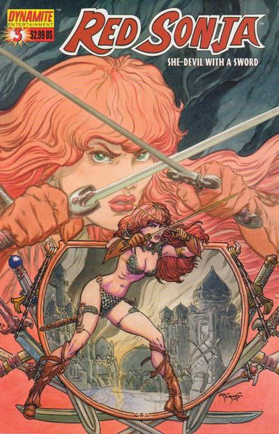 Cover for Red Sonja (Dynamite Entertainment, 2005 series) #3 [Michael William Kaluta Cover]