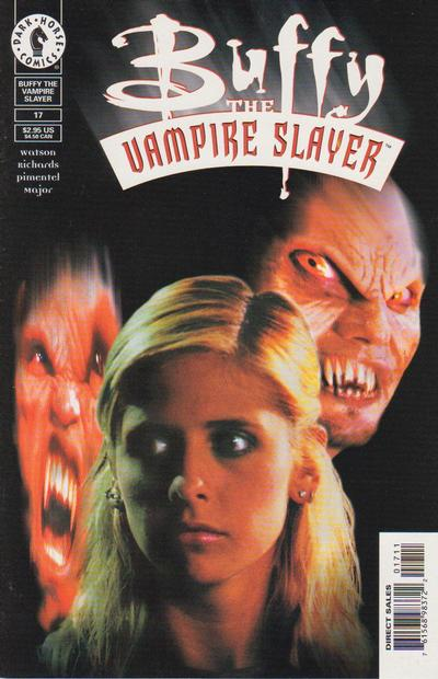 Cover for Buffy the Vampire Slayer (Dark Horse, 1998 series) #17 [Special Valentine's Day Edition - Purple Foil]