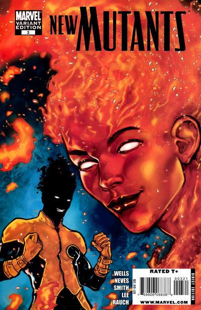 Cover for New Mutants (Marvel, 2009 series) #3 [1950's Variant]