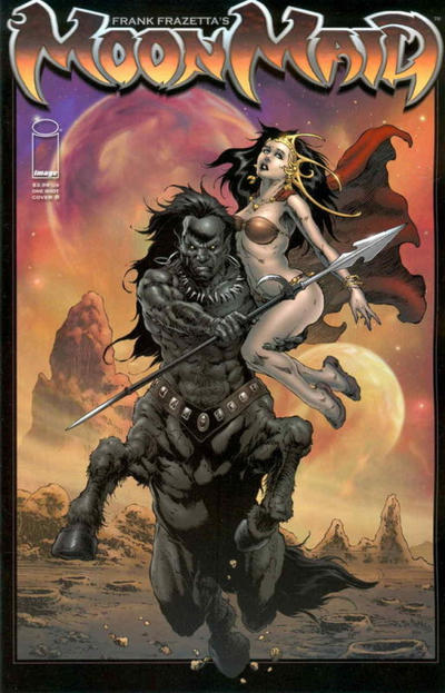 Cover for Frank Frazetta's Moon Maid (Image, 2009 series)  [Cover A]
