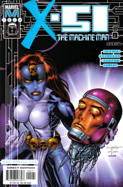 Cover for X-51 (Marvel, 1999 series) #2 [2 for Number 2]