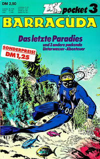 Cover for Zack Pocket (Koralle, 1980 series) #3 - Barracuda - Das letzte Paradies