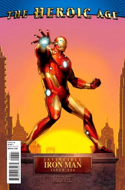 Cover for Invincible Iron Man (Marvel, 2008 series) #26 [The Heroic Age Variant Cover]
