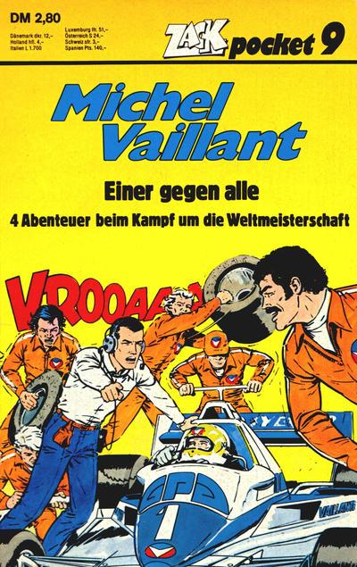 Cover for Zack Pocket (Koralle, 1980 series) #9 - Michel Vaillant - Einer gegen alle