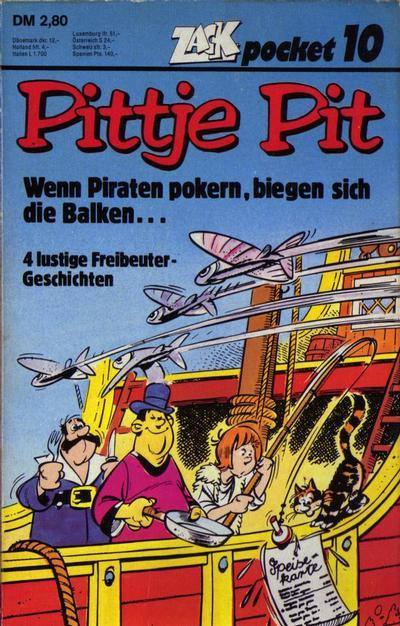 Cover for Zack Pocket (Koralle, 1980 series) #10 - Pittje Pit - Wenn Piraten pokern, biegen sich die Balken