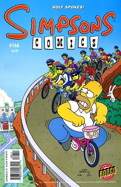 Cover for Simpsons Comics (Bongo, 1993 series) #166