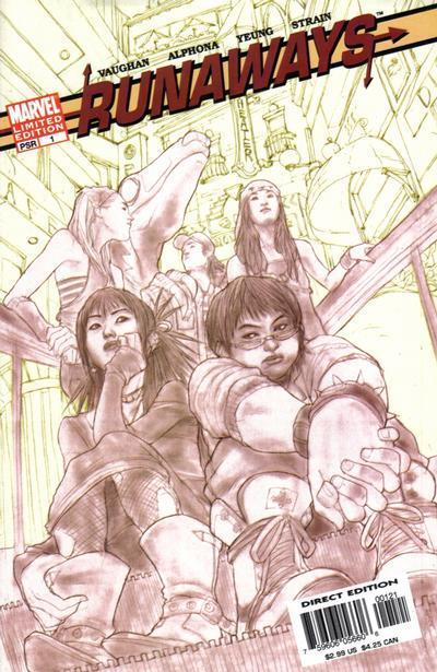 Cover for Runaways (Marvel, 2005 series) #1 [Cover B]