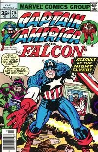 Cover for Captain America (Marvel, 1968 series) #214 [30¢ Cover Price]