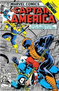 Cover Thumbnail for Captain America (Marvel, 1968 series) #282 [Second Printing]