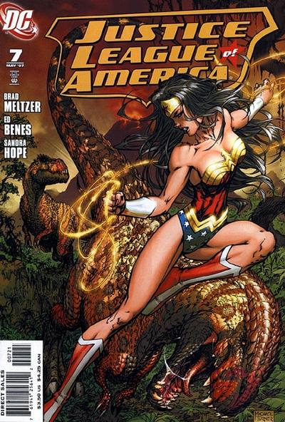 Cover for Justice League of America (DC, 2006 series) #7 [Cover B]