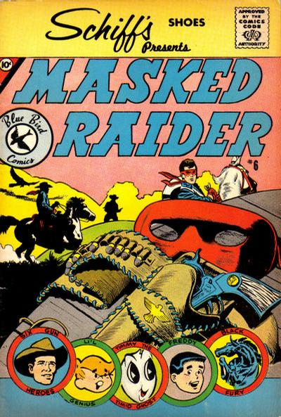 Cover for Masked Raider (Charlton, 1959 series) #6 [Schiff's Shoes]