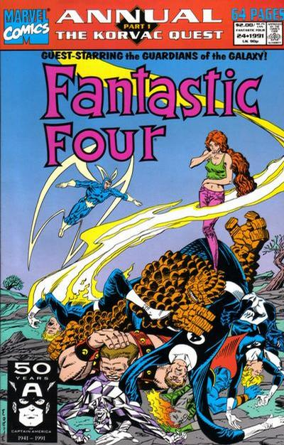 Cover for Fantastic Four Annual (Marvel, 1963 series) #24 [Newsstand Edition]