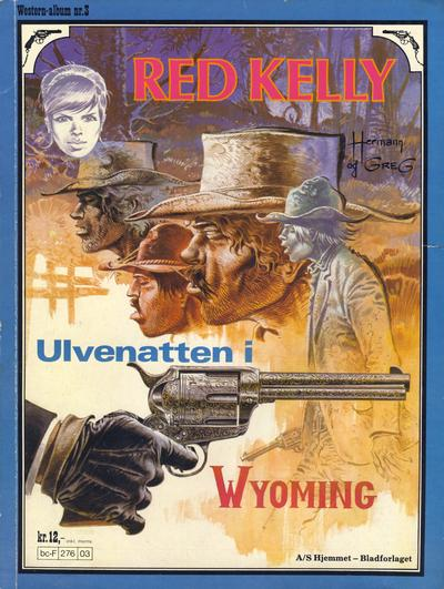 Cover for Western-album (Hjemmet / Egmont, 1977 series) #3 - Red Kelly - Ulvenatten i Wyoming