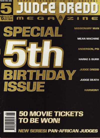 Cover for Judge Dredd Megazine (Fleetway Publications, 1995 series) #6