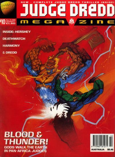 Cover for Judge Dredd Megazine (Fleetway Publications, 1995 series) #10