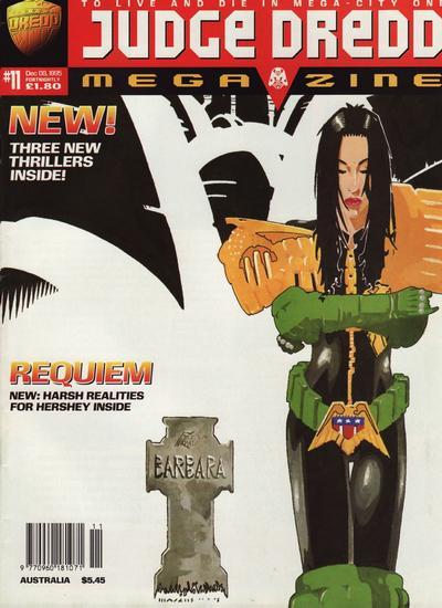 Cover for Judge Dredd Megazine (Fleetway Publications, 1995 series) #11