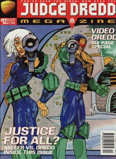 Cover for Judge Dredd Megazine (Fleetway Publications, 1995 series) #12