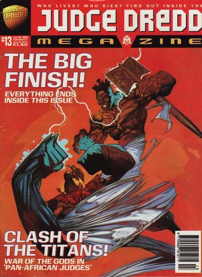 Cover for Judge Dredd Megazine (Fleetway Publications, 1995 series) #13