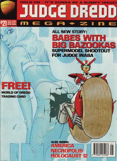 Cover for Judge Dredd Megazine (Fleetway Publications, 1995 series) #21