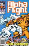 Cover Thumbnail for Alpha Flight (1983 series) #23 [Newsstand Edition]