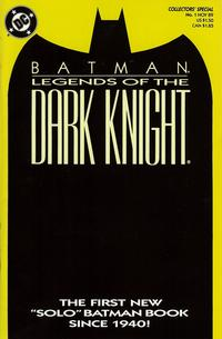 Cover Thumbnail for Legends of the Dark Knight (DC, 1989 series) #1 [Yellow Cover]