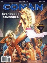 Cover Thumbnail for Conan album (Bladkompaniet / Schibsted, 1992 series) #59 - Sverdløs i Zamboula