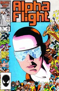 Cover Thumbnail for Alpha Flight (Marvel, 1983 series) #40 [Direct Edition]