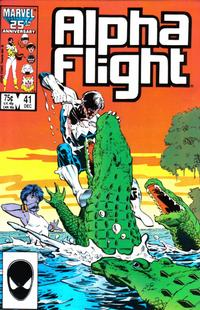 Cover Thumbnail for Alpha Flight (Marvel, 1983 series) #41 [Direct Edition]