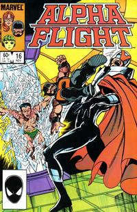 Cover Thumbnail for Alpha Flight (Marvel, 1983 series) #16 [Direct Edition]
