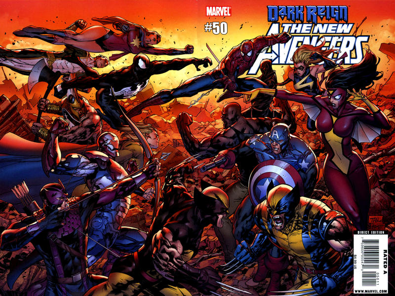Cover for New Avengers (Marvel, 2005 series) #50 [Kubert Variant Cover]