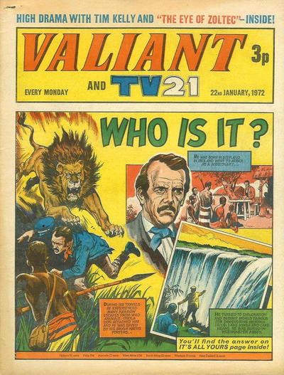 Cover for Valiant and TV21 (IPC, 1971 series) #22nd January 1972