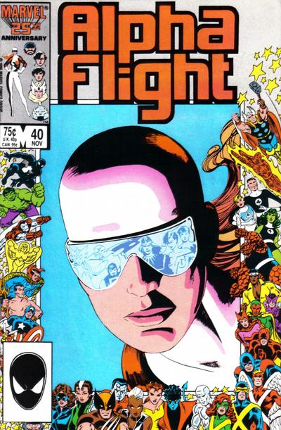 Cover for Alpha Flight (Marvel, 1983 series) #40 [Direct Edition]