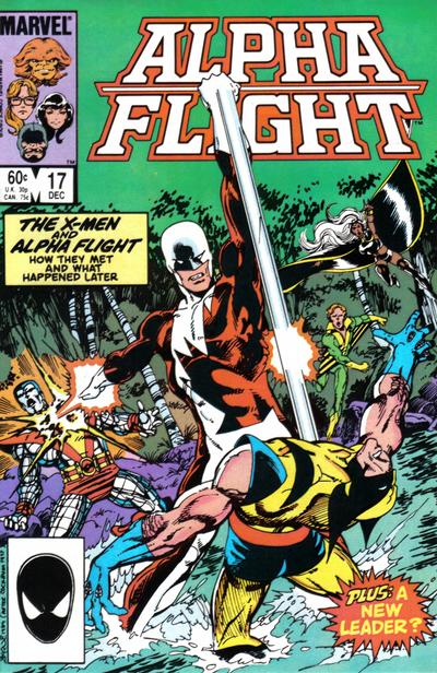 Cover for Alpha Flight (Marvel, 1983 series) #17 [Newsstand Edition]
