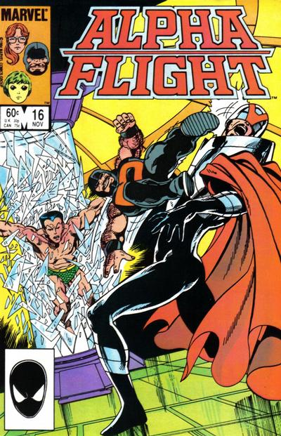 Cover for Alpha Flight (Marvel, 1983 series) #16 [Newsstand]