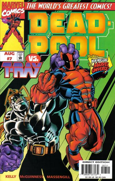 Cover for Deadpool (Marvel, 1997 series) #7 [Newsstand Edition]