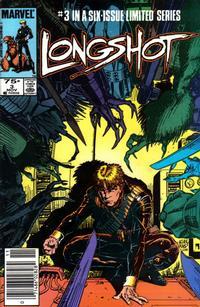 Cover for Longshot (Marvel, 1985 series) #3 [Newsstand]