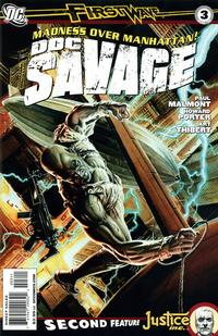 Cover for Doc Savage (DC, 2010 series) #3 [John Cassaday Variant Cover]