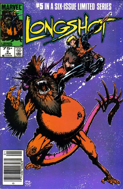 Cover for Longshot (Marvel, 1985 series) #5 [Canadian]
