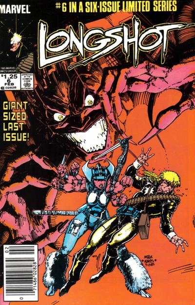 Cover for Longshot (Marvel, 1985 series) #6 [Direct]