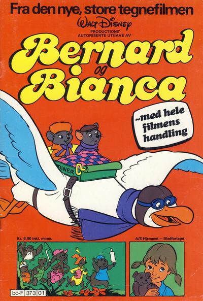 Cover for Bernard og Bianca (Hjemmet / Egmont, 1978 series)