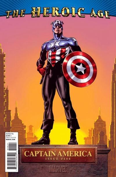 Cover for Captain America (Marvel, 2005 series) #606 [Heroic Age Variant]