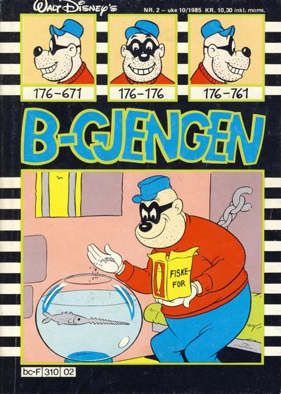 Cover for B-gjengen (Hjemmet / Egmont, 1985 series) #2/1985